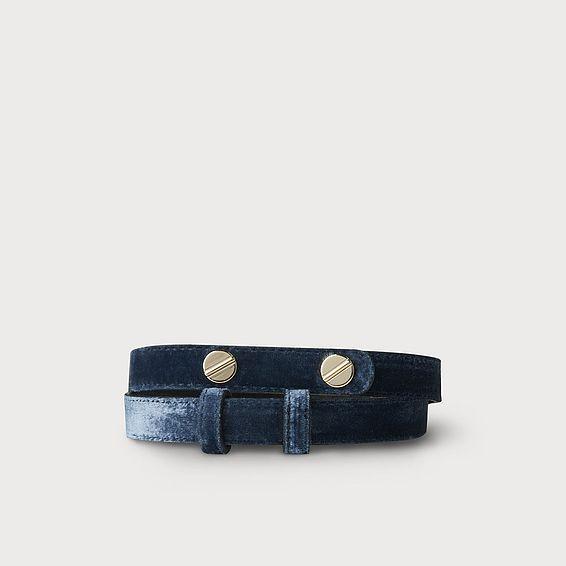 Zahara Blue Velvet Belt