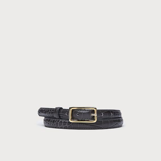 Glenda Grey Croc Effect Belts