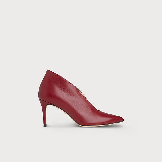 Corrina Red Leather Heel