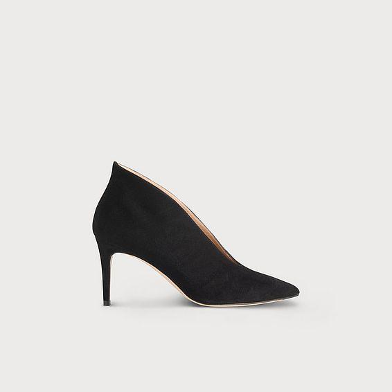 Corrina Black Suede Heel