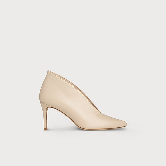 Corrina Nude Leather Heel