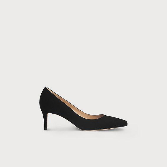 Elma Black Suede Heel