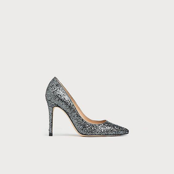 Fern Silver Glitter Heels