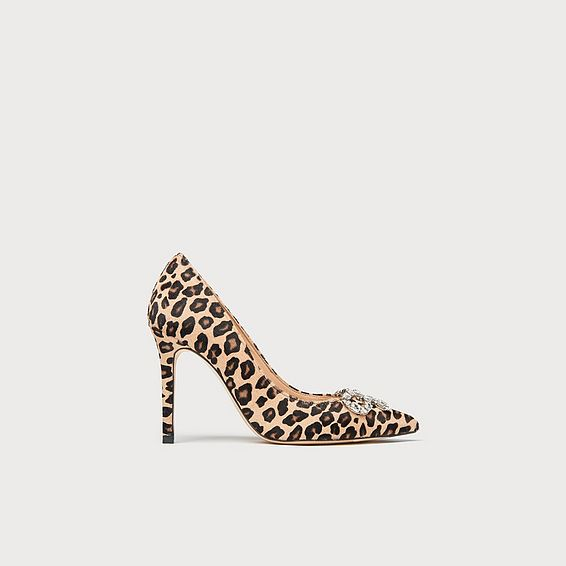 Fern Leopard Heels