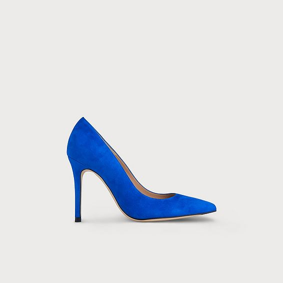 Fern Poolside Blue Suede Heel