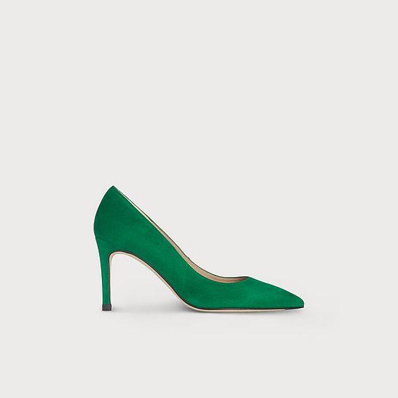 Floret Green Suede Heel