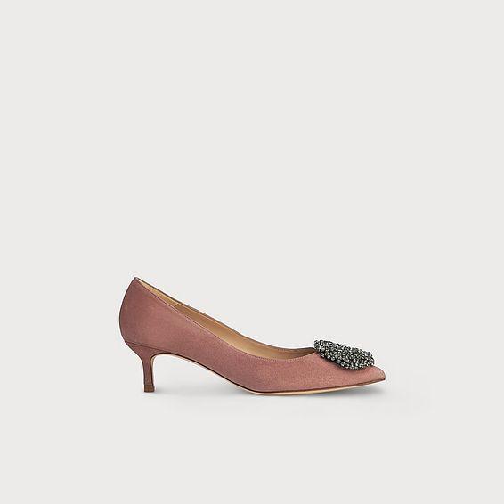 Gretchen Pink Suede Heel