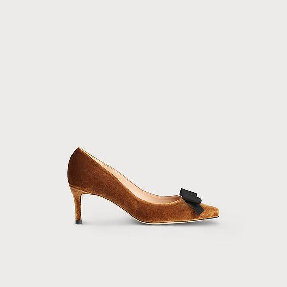 Saskia Bronze Velvet Heels