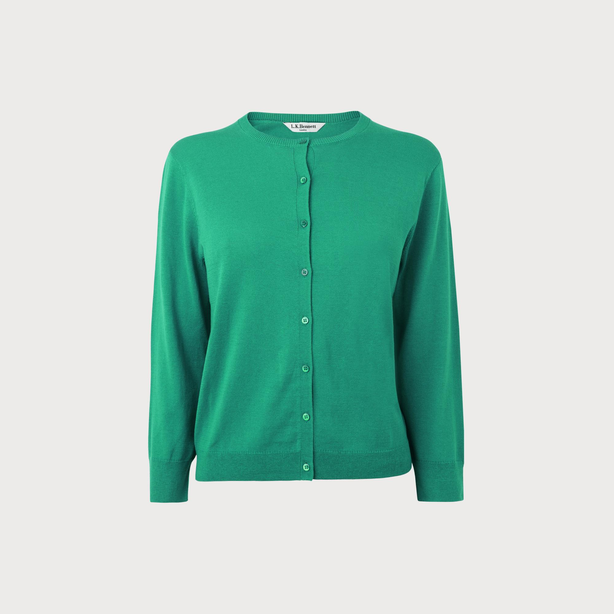 Bibia Green Cardigan by L.K.Bennett