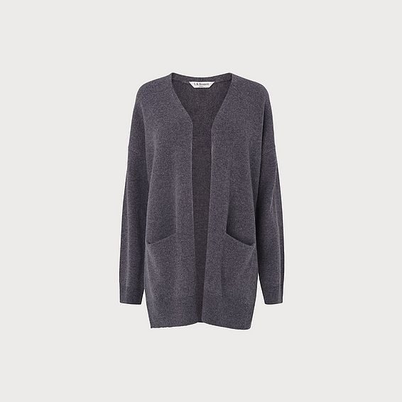 Inaya Grey Wool Cardigan