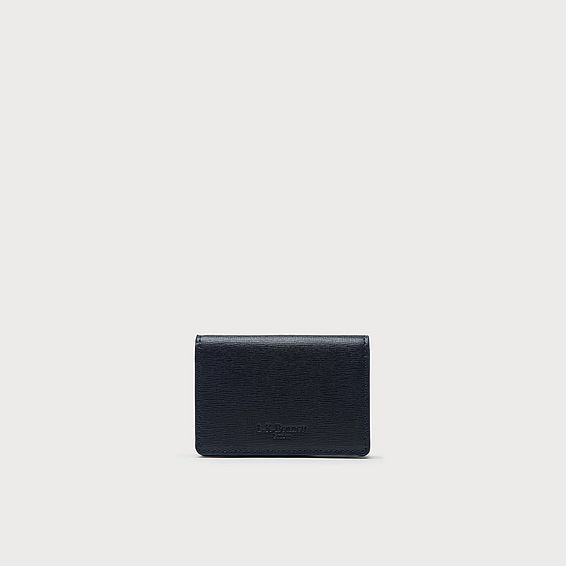 Porthia Navy Saffiano Card Holder