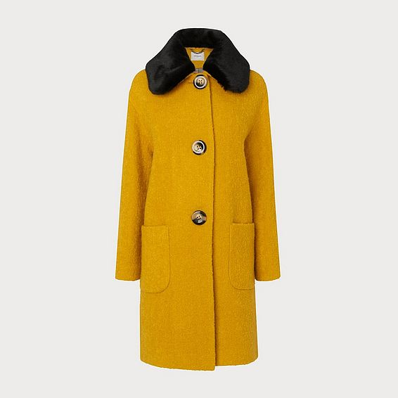 Aster Yellow Wool Coat