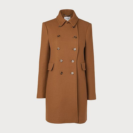 Fellis Camel Wool Mix Coat