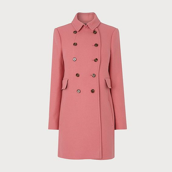 Fellis Pink Wool Mix Coat