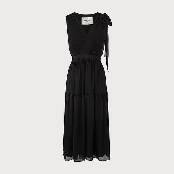 Abigail Black Silk Dress