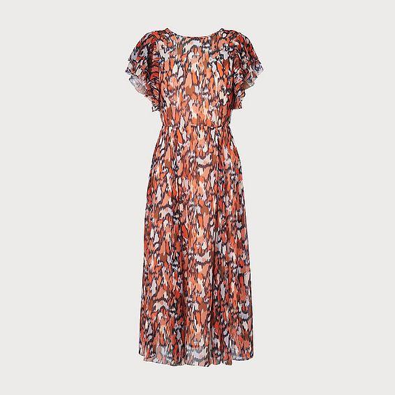 Agnes Orange Print Dress