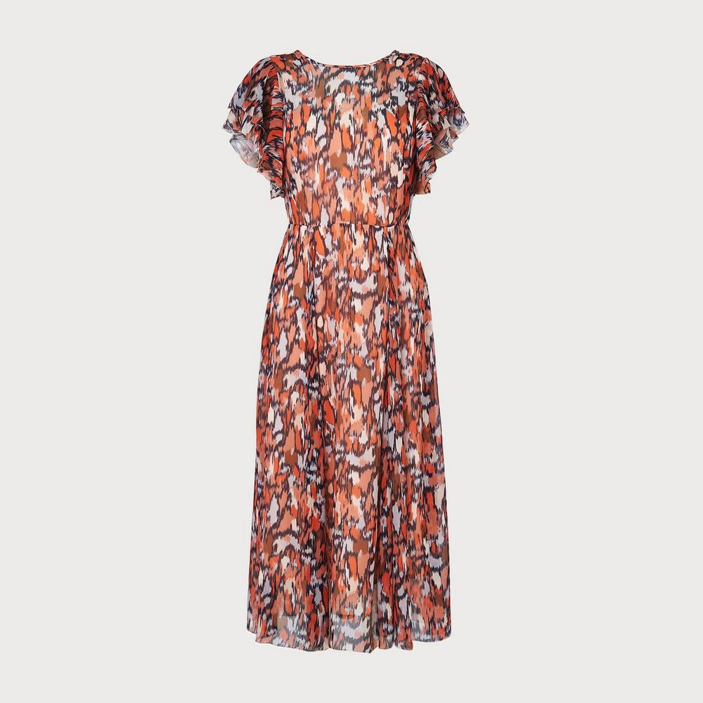 Agnes Orange Print Dress by L.K.Bennett
