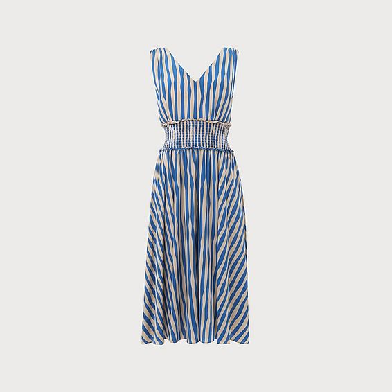 Ambery Blue Stripe Dress
