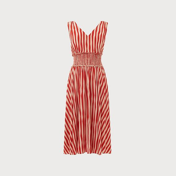 Ambery Red Stripe Dress