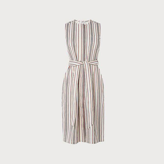 Catrin Cream Striped Dress