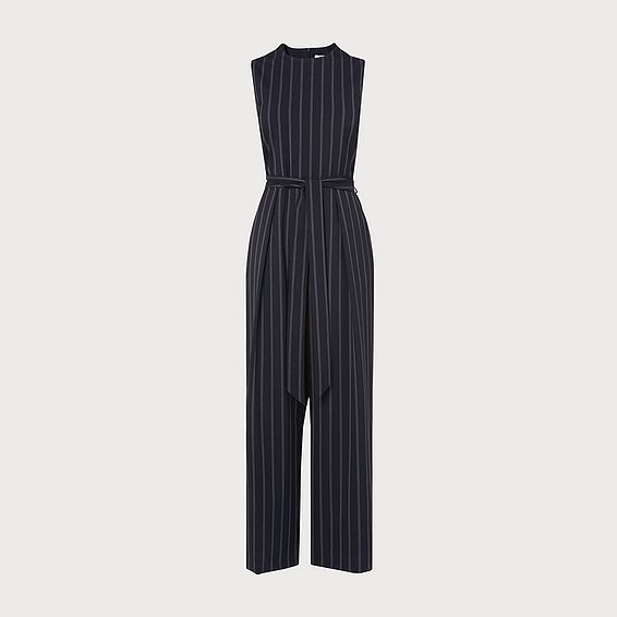 Elani Navy Stripe Jumpsuit