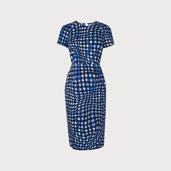 Kaleigh Blue Print Dress