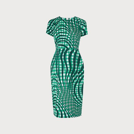 Kaleigh Green Print Dress