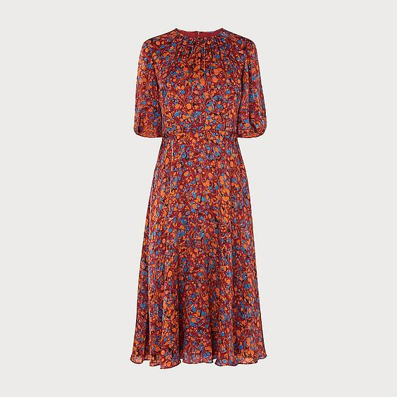 Souli Rust Silk Dress