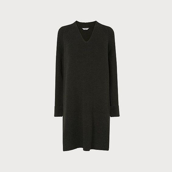 Zurie Green Merino Wool Dress