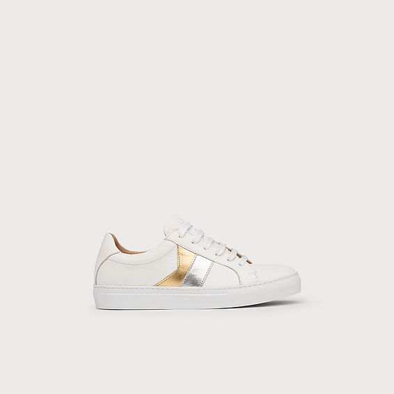 Alivia Silver and Gold Sneaker