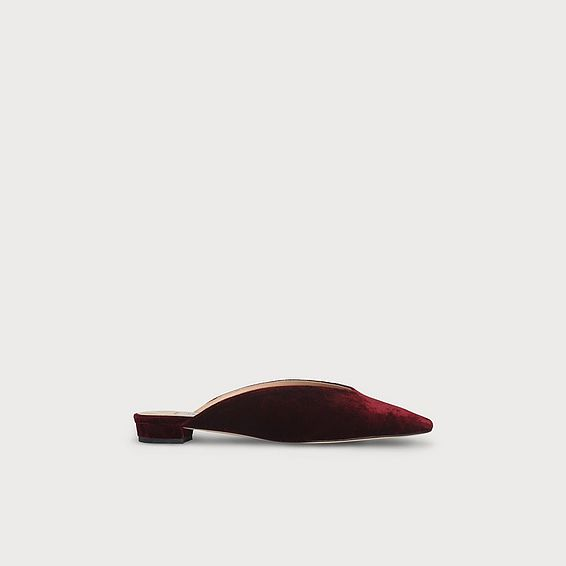 Catrina Red Velvet Flats