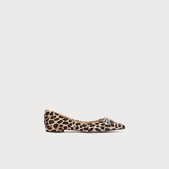 Elin Leopard Flats