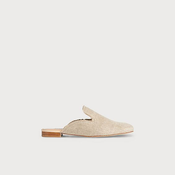 Erin Natural Canvas Mules