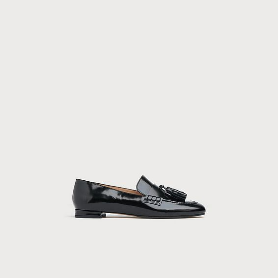 Rumi Black Leather Loafers