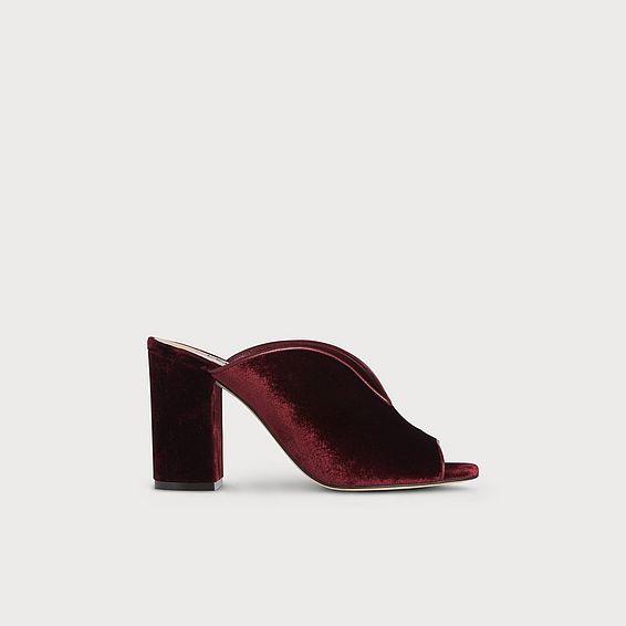 21591454b Carmela Red Velvet Sandals