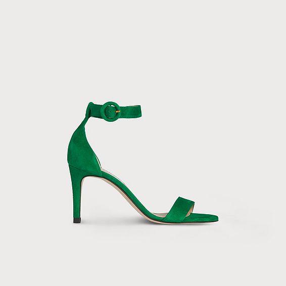Dora Green Suede Sandal