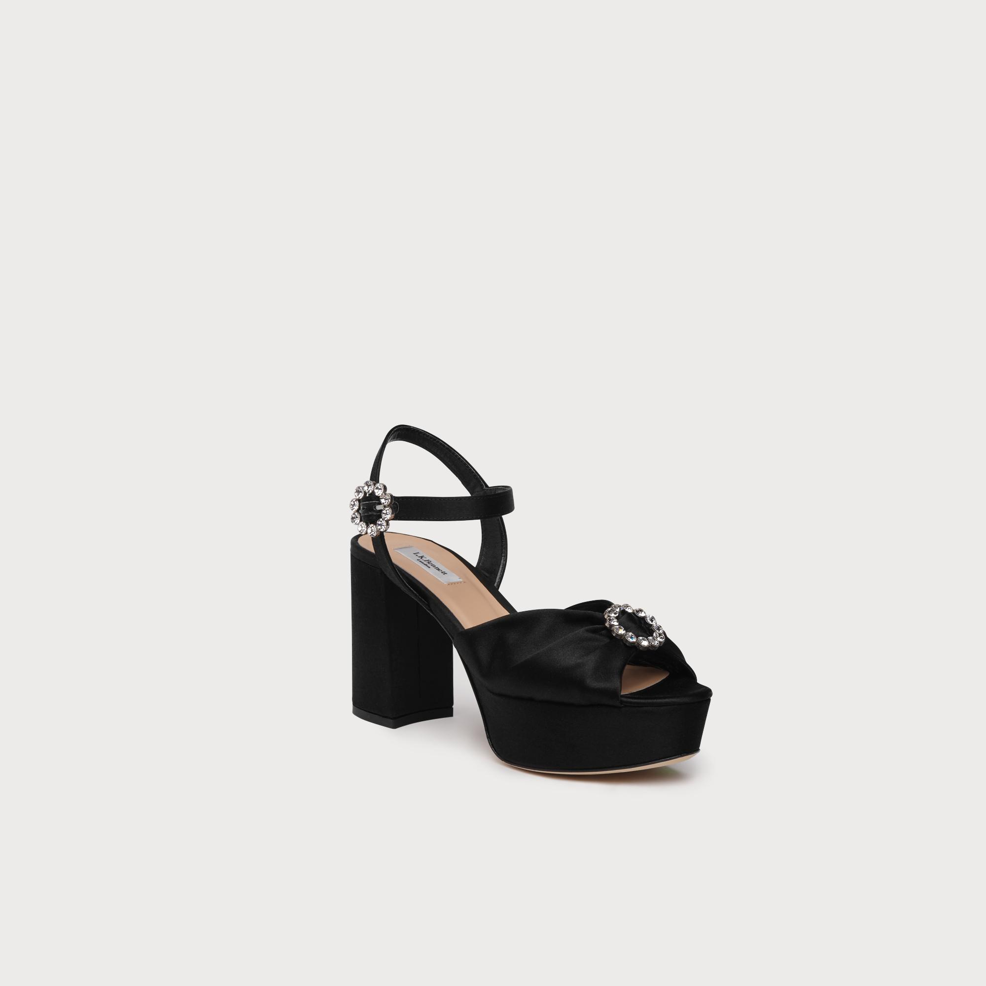 ea7db314c6bc9 Home · Shoes  Eline Satin Sandals. Tap to zoom