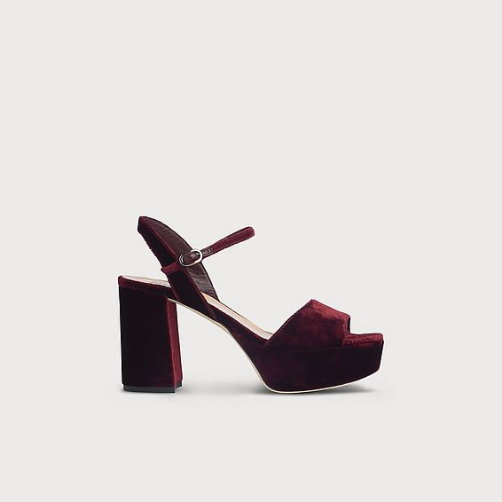 Keriss Red Suede Sandals