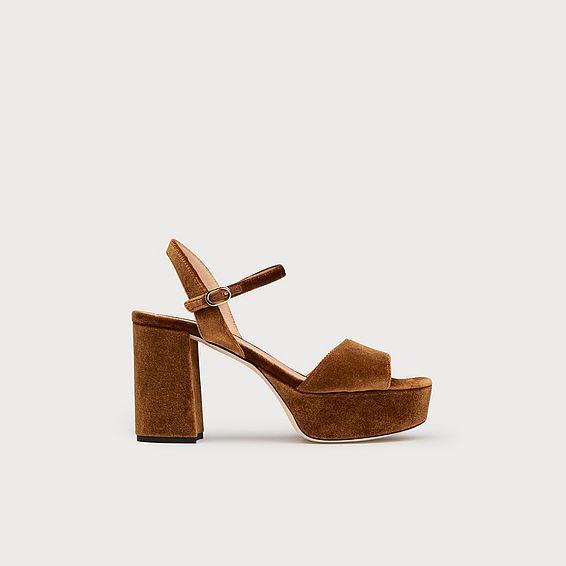 Keriss Bronze Suede Sandals