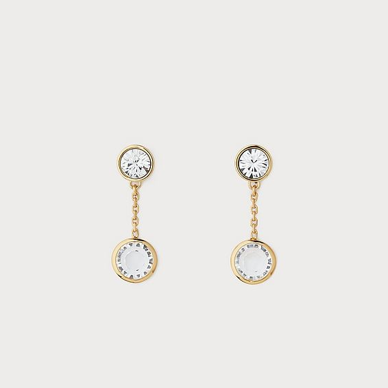 Diana Gold Crystal Drop Earrings