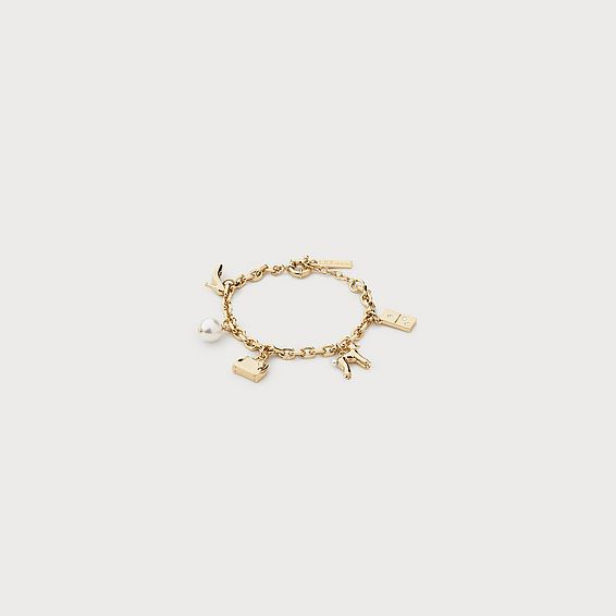 Domina Gold Charm Bracelet