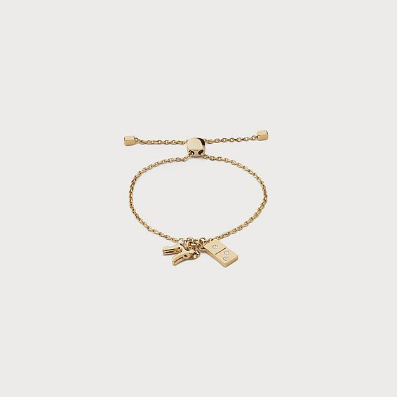 Drew Crystal Charm Bracelet