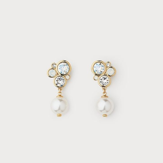 Paola White Pearl Drop Earrings