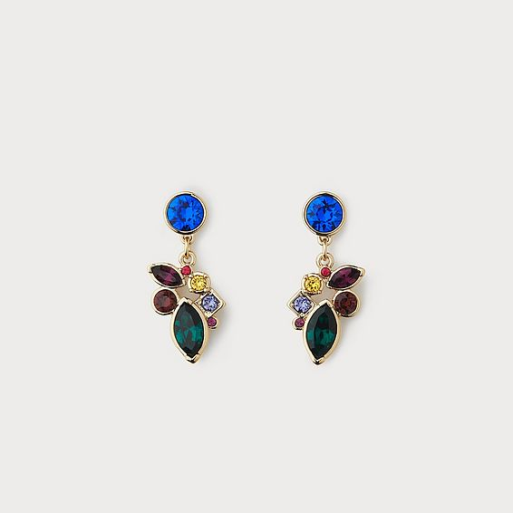 Petra Multicolor Crystal Earrings