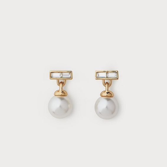 Priscilla White Pearl Earrings