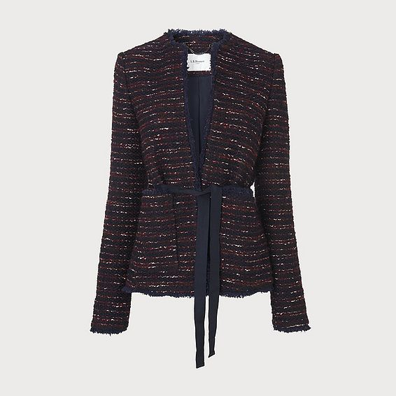 Elaine Wine Tweed Jacket