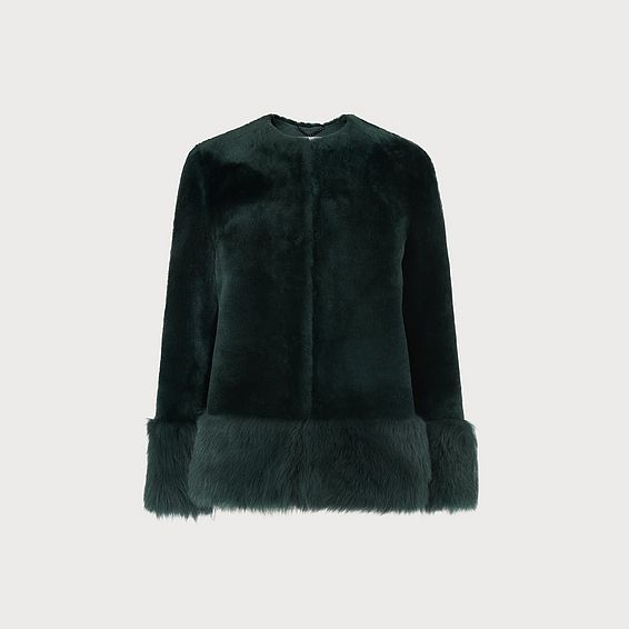Mishia Green Shearling Jacket