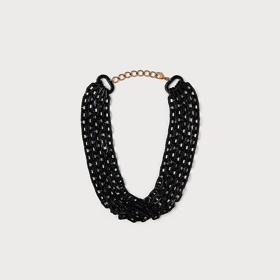 Jillian Black Link Necklace