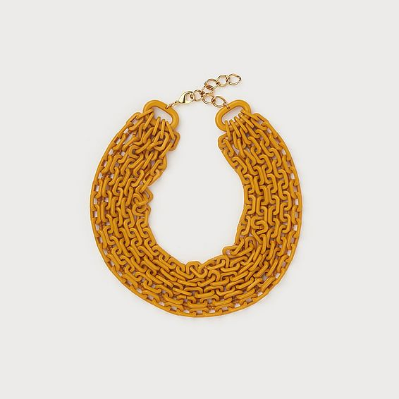 Jillian Yellow Link Necklace
