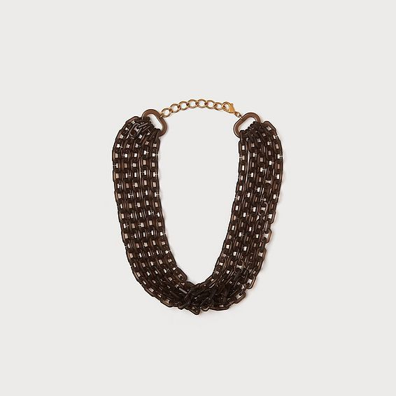 Jillian Taupe Link Necklace
